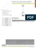 Circular Pendant Data Sheet