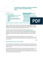 Prevencion Primaria Del Duelo Complicado, Atencion Al Paciente