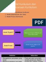 Model Kurikulum Dan Pelaksanaan Kurikulum