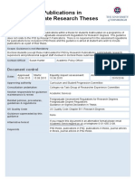 Publications in Thesis-guidelines
