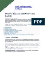Deffered Tax