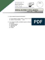 Examen Mensual de Pfrh y Civica 2