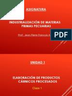 CLASE 1 - Elaboración de Productos Cárnicos Procesados.