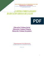 Estructura Del Sistema Curricular de Educación Cristiana 2004