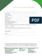 5 -Formulaire de Souscription Au Service « Paiement en Ligne Cinetpay »