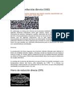 Proceso de Reducción Directa (DRI)