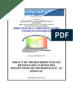 Etude Microfinance Senegal