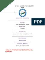 Tarea VII de Fundamentos y Estructura Del Currículo