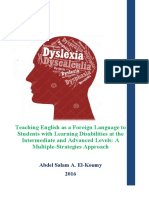Teaching English as a Foreign Language to Students with Learning Disabilities at the Intermediate and Advanced Levels