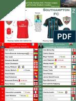 Premier League 180408 round 33 Arsenal - Southampton 3-2