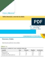 Física General 1.3 Análisis Dimensional y Conversión de Unidades