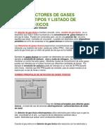 Los Detectores de Gases Toxicos Tipos y Listado de Gases Toxicos