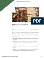 29 Book Reviews of 2017