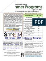 CLC - ESOL Summer Programs Newsletter for Schools 2018