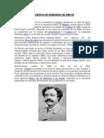 Biografia de Edmundo de Amicis