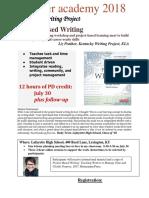 project based writing workshop liz prather final