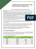 Analisis de La Importaciones Cif Según Cuode y Principales Socios Comerciales