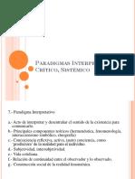 Presentacion (Paradigmas, Interpretativo, Critico, Sistemico)