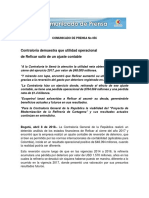 Comunicado de Prensa No 056