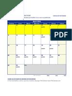 Calendario Construccion Pesada Basica