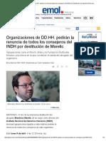 Organizaciones de DD.hh. Pedirán La Renuncia Todos Los Consejeros Del INDH Por Destitución de Marelic _ Emol.com