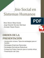 Cambio Social en Los Sistemas Humanos