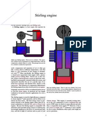 Stirling Engine Pdf Internal Combustion Engine Cylinder Engine