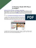 Cara Membuat Pemutar Musik MP3 Player Sendiri Dengan Delphi 7