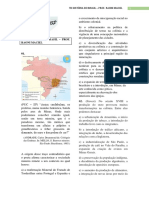 Td de História Do Brasil - Prof Raoni