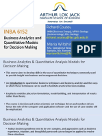 Session 01 - Introduction to BAQMDM and Statistical Measure