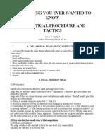 Trial Tactics and Procedures-US