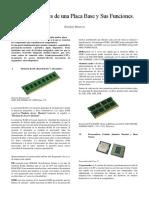 Descripción Partes de Una Placa Base y Sus Funciones