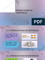 Productividad de Materiales