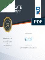 certificate lt parotid