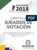 Cartilla Jurados Nacional Elecciones Congreso 2018