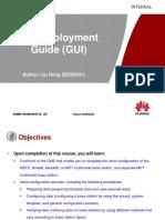 Training Document IManager U2000-CME V200R016 Site Deployment Guide (GUI)