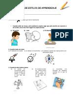 Test de Estilos de Aprendizaje 2 Basico