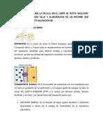 Actividades Tema II de Biología, LA CELULA