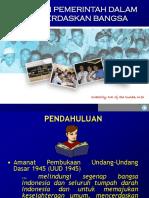 Presentasi Peranan Pemerintah
