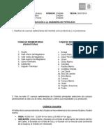 Cuencas productores de petróleo en Colombia