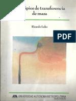 Principios de Transferencia de Masa-Ricardo Lobo Oehmichen