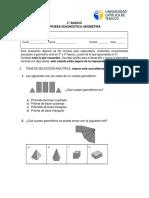 Evaluación diagnóstica geometría 5° básico