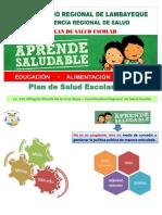 Plan de Salud Escolar 2016 MG. MILAGROS DE LA CRUZ ROJAS