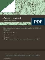 Aulão – English