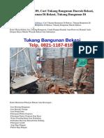 TEL. 0821-1187-8189, Cari Tukang Bangunan Daerah Bekasi, Cari Tukang Bangunan Di Bekasi, Tukang Bangunan Di Bekasi Timur