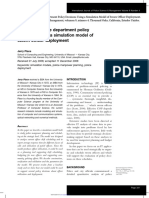 Evaluating Police Deptm Policy Decisions Using a Simulation Model of Sworn Officer Deployment-place