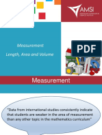 Measurement Length Area Volume