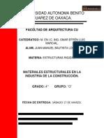 Materiales Estructurales en La Industria de La Construccion.
