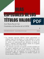 Cláusulas Especiales de Los Títulos Valores - José María Pacori Cari