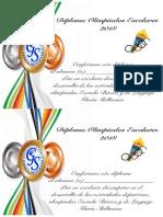 Diploma Olimpiadas2018